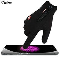 Tnine Classic Black Leather TouchScreen Unisex Military Driving Gloves