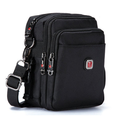 Soperwillton Shoulder Crossbody Messenger Water-Resistent Waist Packs Men Zipper Travel Bag