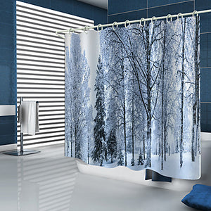 Shower Curtains & Hooks Modern Polyester New Design Winter Scene