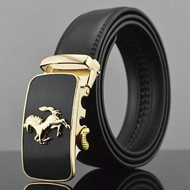 Men's Party Evening Stylish Luxury Buckle Solid Colored Formal Style
