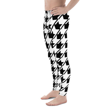 Black White Houndstooth Men's Leggings