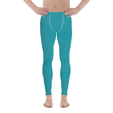Bondi Blue Blocks Men's Leggings