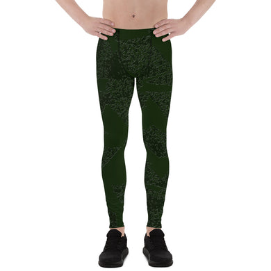Deep Fir Shades Men's Leggings