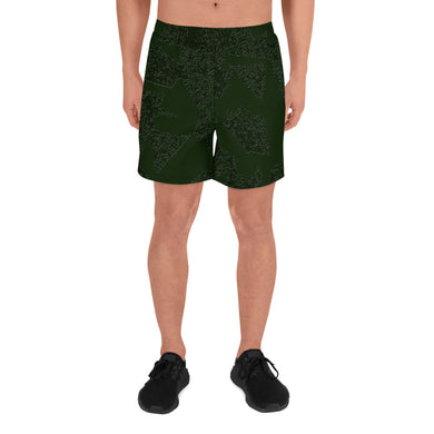 Deep Fir Shades Men's Athletic Long Shorts