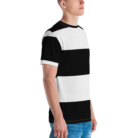 Black White Stripes Men's T-shirt