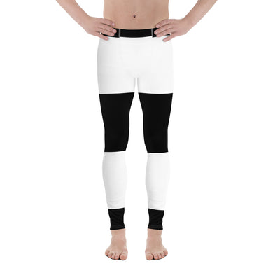 Black White Stripes Men's Leggings