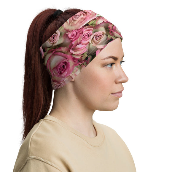 Your Pink Roses Neck Gaiter