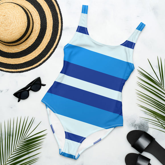 Azure Blue Radiance One-Piece Swimsuit