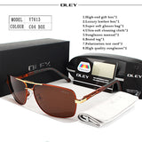 OLEY Brand Polarized Sunglasses Men Eyes Protect Accessories Unisex Driving Goggles