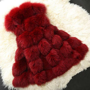 UPPIN High quality Fur Vest Coat Luxury Faux Fox Warm Women Winter Fashion