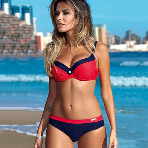 YICN Print Swimwear Women Bikini Set 2 New Push Up Biquini Brazilian Bathing Suit