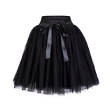 Party Train 7 Layers Midi Tulle Fashion Tutu Skirts Women Ball Gown Petticoat