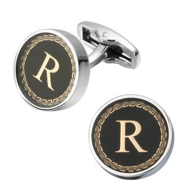 XKZM Auspicious Letter A D R H M Cufflinks The English Alphabet Men Shirt Charm