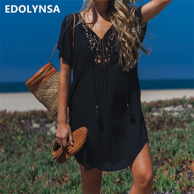 Edolynsa Beach Cover Up Sarong Swim Pareos de Playa Mujer Vestido Playa Bikini Tunics