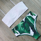 RUUHEE Bandage Swimwear Women High Waist Bikini Set Push Up Maillot De Bain
