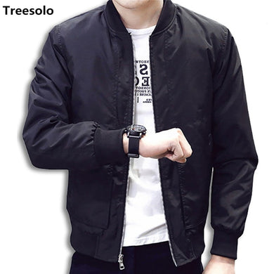 Treesolo Fashion Slim Fit Men Thin Jackets Casual Coat Top Quality