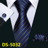 "Barry.Wang 100% Silk 3.4"" Jacquard Woven Fashion Designers Necktie Set"