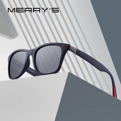 MERRYS DESIGN Unisex Rivet Polarized Sunglasses Square Frame 100% UV Protection S8508