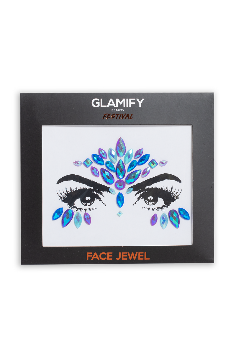 Glamify Blue Dark Mermaid All In One Face Jewels