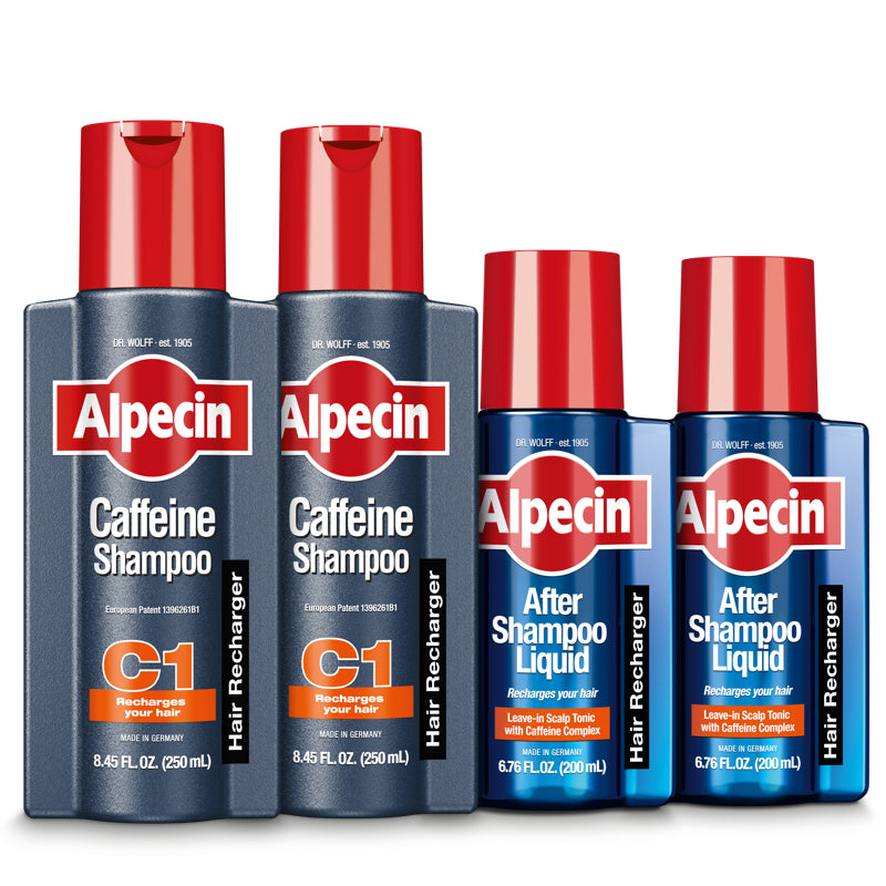 Alpecin Caffeine Shampoo + Scalp Tonic - Cleanses and Refreshes The Scalp to Promote Natural Hair Growth