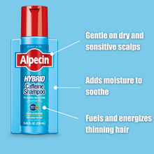 Load image into Gallery viewer, Alpecin Hybrid Caffeine Shampoo - Gentle Formula For Sensitive Scalps