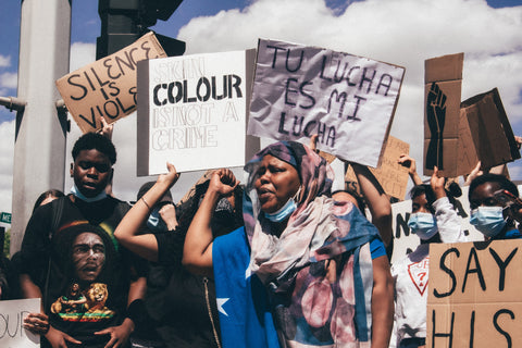 People of colour at a protest