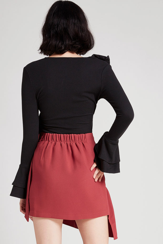 Kate Asymmetric Ruffle Skirt
