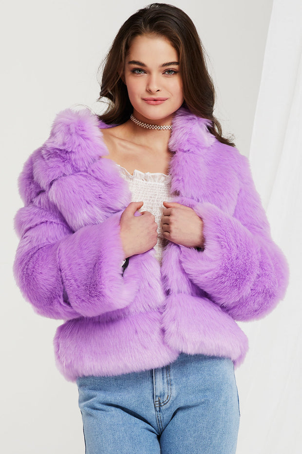 Nevaeh Faux Fur Mink Coat-3 Colors