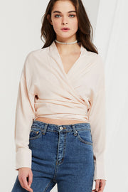 Hadley Self-tie Wrap Blouse-2 Colors