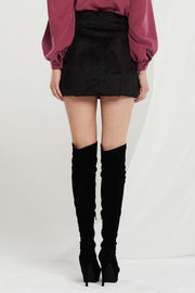 Barbara Faux Shearling Skirt-2 Colors