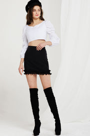 Olivia Smock Sleeves Crop Top