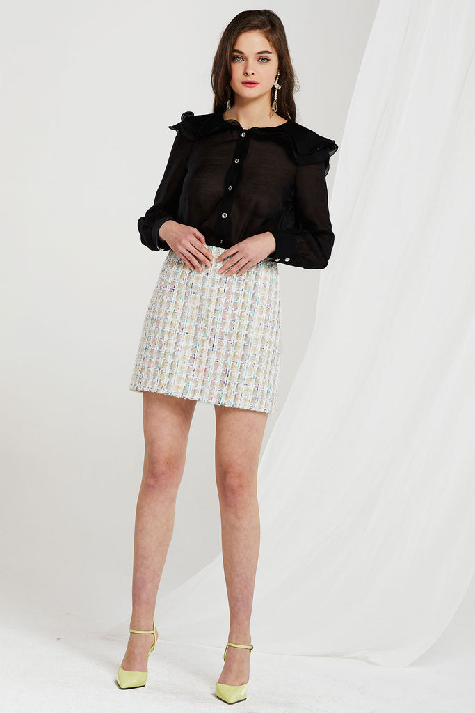 Kerry Wave Collar Blouse