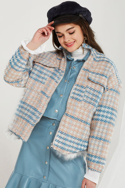 Noah Plaid Half Neck Jacket