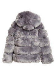 storets.com Elena Faux Fur Mink Hoodie Coat-2 Colors