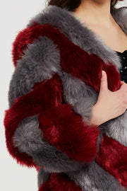 Elijah Diagonal Faux Fur Coat