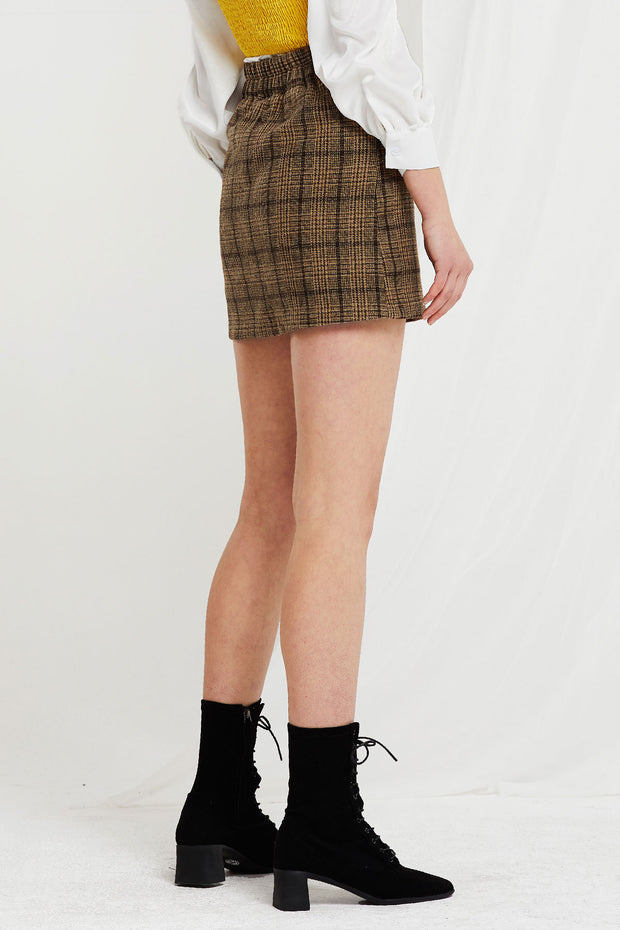 Sarha Flap Pockets Plaid Skort-2 Colors