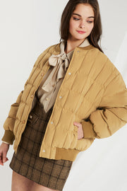 Riley Quilted Padded Bomber