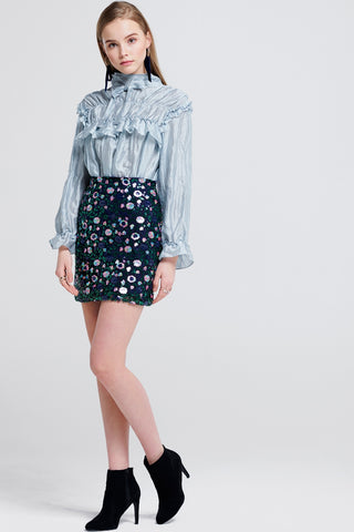 Karin Flower Sequin Skirt