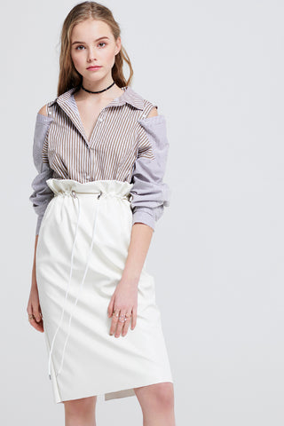Janet High Waist Leather Skirt