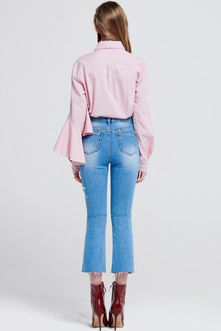 Mina Cut Out Jeans