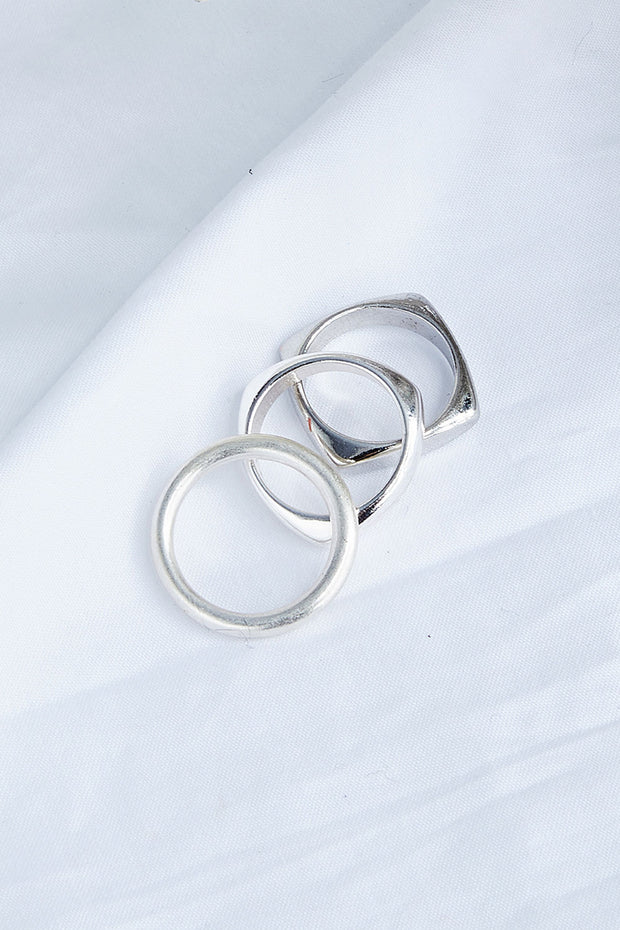 Multi Layered Square Ring Set
