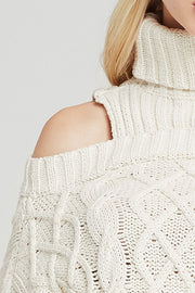 Ivy Cold Shoulder Turtleneck Sweater