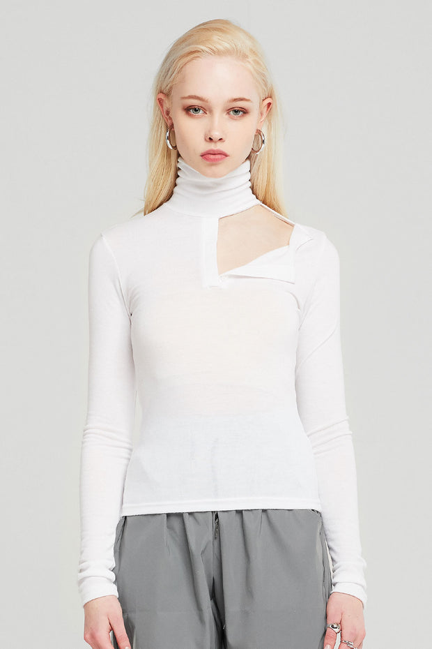 storets.com Kinsley Cutout Detail Fitted Top