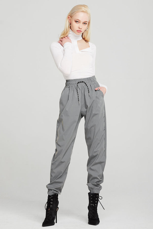 Brooke Silver Reflective Joggers