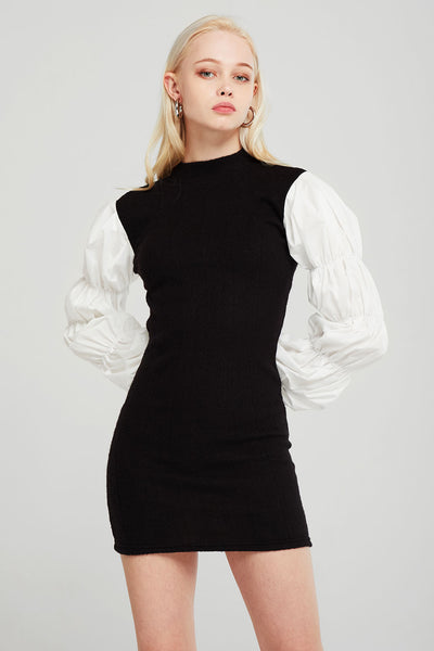 Elizabeth Ruched Sleeve Dress