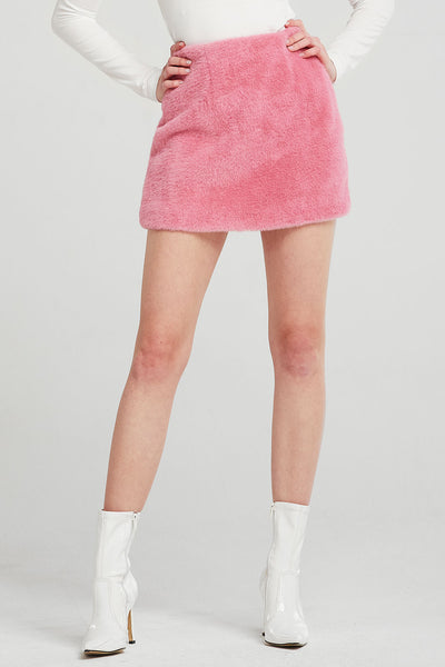 Diana Faux Mink Mini Skirt
