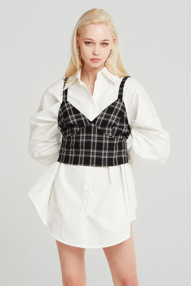 Alice Plaid Bustier