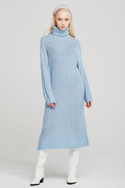Evelyn Turtleneck Knitted Long Dress