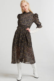 Charlotte Ruched Floral Dress