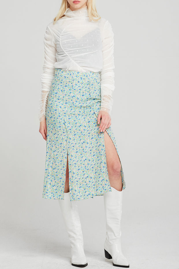 Esther Floral Slit Long Skirt
